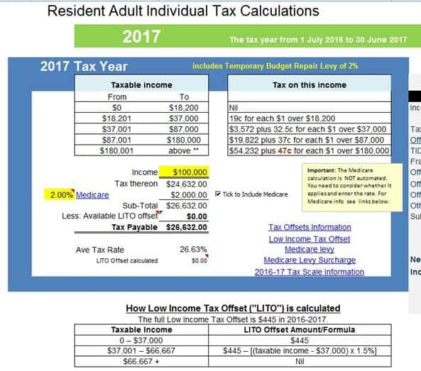 Income Tax Calculator - Atotaxrates.Info