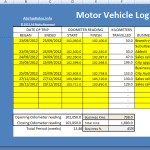 motor vehicle log book