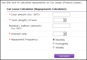 novated lease calculator
