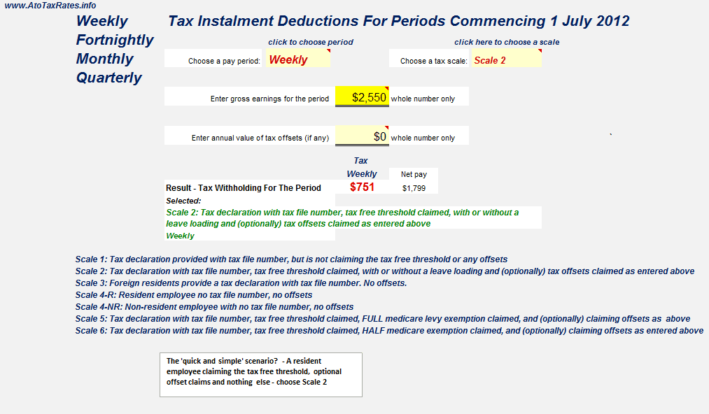 how to change tax free treshold tax file number declaration