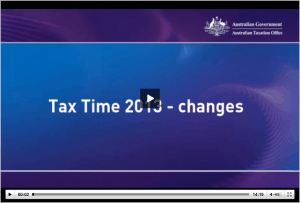 Tax Time 2013 Changes