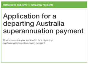 Departing Australia Superannuation Payment