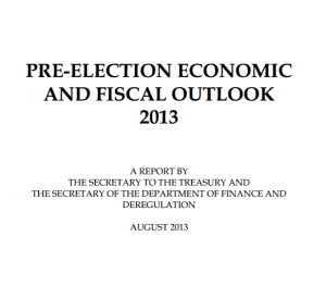 PRE-ELECTION ECONOMIC AND FISCAL OUTLOOK 2013