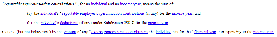 Reportable Super Contributions INCOME-TAX-ASSESSMENT-ACT-1997-SECT-995.1-Definitions