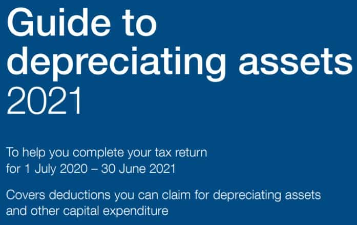 Guide for taxpayers with depreciating assets Guide to   depreciating assets 2021 To help you complete your tax return  for 1 July 2020 – 30 June 2021 Covers deductions you can claim for depreciating assets